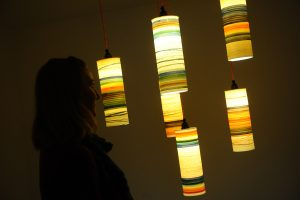 Alison Graham lightshades glowing