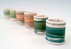 Thimble Vessels, Porcelain, 3cm x 2cm (Approx.) £12 each